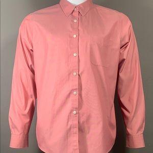 LL Bean Pink Button Down Dress Shirt